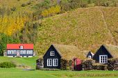 picture of iceland farm  - Traditional icelandic houses in Skogar Folk Museum Iceland - JPG