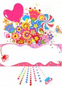 Abstract greeting bouquet. Raster copy