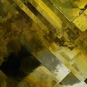 art abstract colorful  geometric pattern; acrylic background in gold, olive and black colors