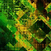 art abstract colorful  geometric pattern; acrylic background in gold, green, brown and black colors