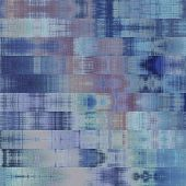 art abstract colorful graphic background; geometric border stylized pattern in blue and violet color