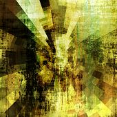 art abstract monochrome centripetal rays pattern acrylic  background in gold, black and green colors