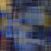 art abstract colorful geometric seamless pattern; background in blue and beige colors