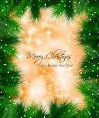 Elegant Classic Christmas Background with n a lot of colorful glitters for a magic atmosphere. Idea