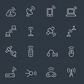 Wireless tools icon set