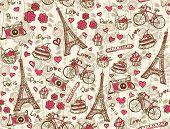 Paris vintage background