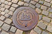 Sewer Manhole In Stavanger, Norway