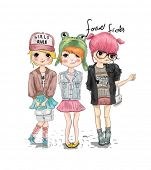 fashion cute girl illustration