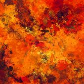 art abstract colorful watercolor background in bright  gold, orange, red and brown colors