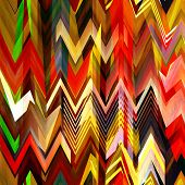 art abstract colorful zigzag geometric seamless pattern background in rainbow colors