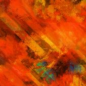 art abstract colorful acrylic background in red, orange and green colors