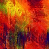 art abstract colorful acrylic background in red, orange, gold and green colors