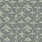 Seamless Pattern With Military Airplanes 02
