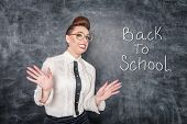 Scared Teacher In The Eyeglasses