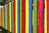 Playground colored fence
