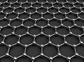 stock photo of graphene  - crystal lattice 3d model of a crystal lattice - JPG