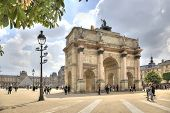 Paris. Small Triumphal Arch Is In The Tuileries Gardens