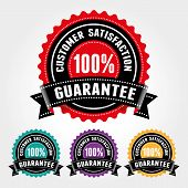 Customer Satisfaction Guarantee Badge And Sign