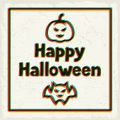 Happy halloween greeting card with effect overlay.