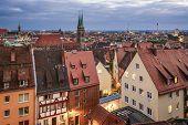 Nuremberg, Germany historic city skyline.