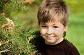 stock photo of 8-track  - A boy in a park near Pine - JPG