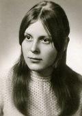 LODZ, POLAND, CIRCA MARCH 1969 - Vintage photo of young girl