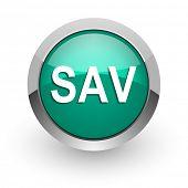 sav green glossy web icon