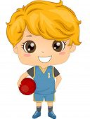 Illustration of a Boy Dressed in Basketball Gear