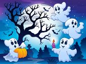Spooky tree theme image 4 - eps10 vector illustration.