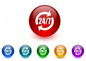 service internet icons colorful set