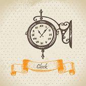 image of pendulum clock  - Vintage clock - JPG