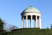 Ancient Temple Over The Hill Of The Public Park Of Vicenza Italy