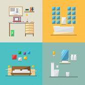 Flat Design Of House Interior