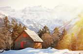 Spring in Braunwald, famous Swiss skiing resort