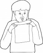 Outline Of Lady Reading Letter