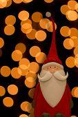 Santa Claus with golden circles