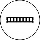 ram memory stick symbol