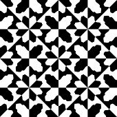 Seamless Oriental Ornament. Abstract Monochrome Background. Vector Geometric Pattern