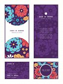 Vector colorful bouquet flowers vertical frame pattern invitation greeting, RSVP and thank you cards