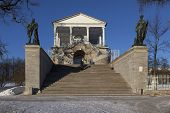 PUSHKIN, RUSSIA - JANUARY 21, 2015: Photo of Cameron Gallery.