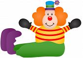 Cute clown sitting