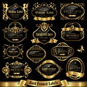 Gold framed labels set 9