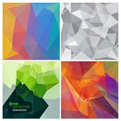 Abstract triangle geometrical vector background set.