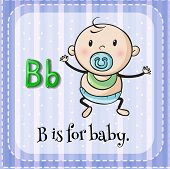 Illustration of a letter B is for baby