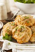 image of biscuits  - Homemade Cheddar Cheese Biscuits with Parsley Herbs - JPG