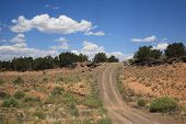pic of southwest  - A dirt road and hill in the American Southwest - JPG