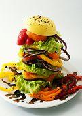 Vegetable-fruit hamburger