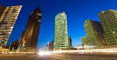 foto of intersection  - Evening view of the Potsdamer Platz intersection Berlin Germany - JPG