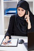 Arabic Woman Talking On Phone