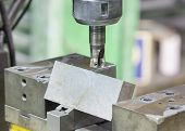 Operator Cutting Steel Surface By Milling Machine